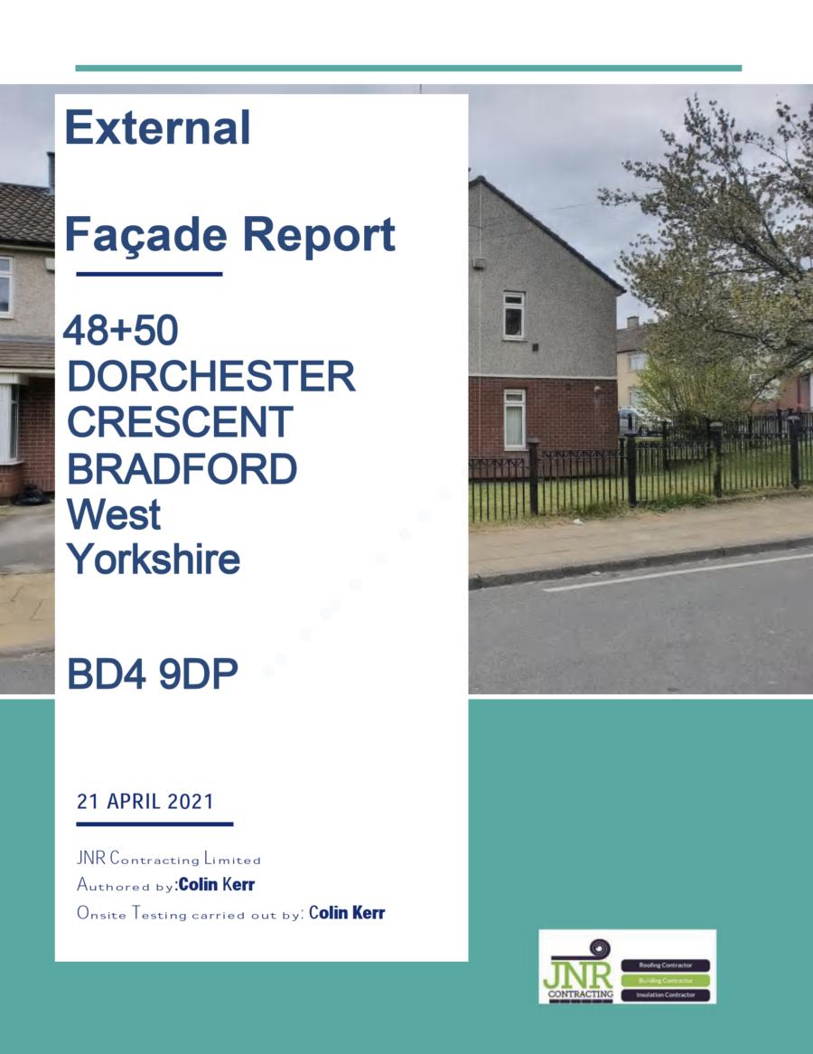 Facade / Cladding Report - Dorchester Crescent - Bradford